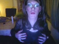 Live tranny sex show met 42-jarige shemale